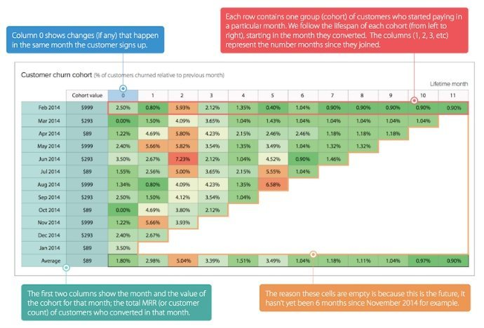 SaaS CLTV cohort analysis